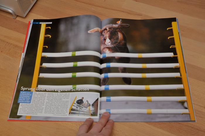 Stolz wie Oskar: Doppelseite in der VIEW, Januar 2010