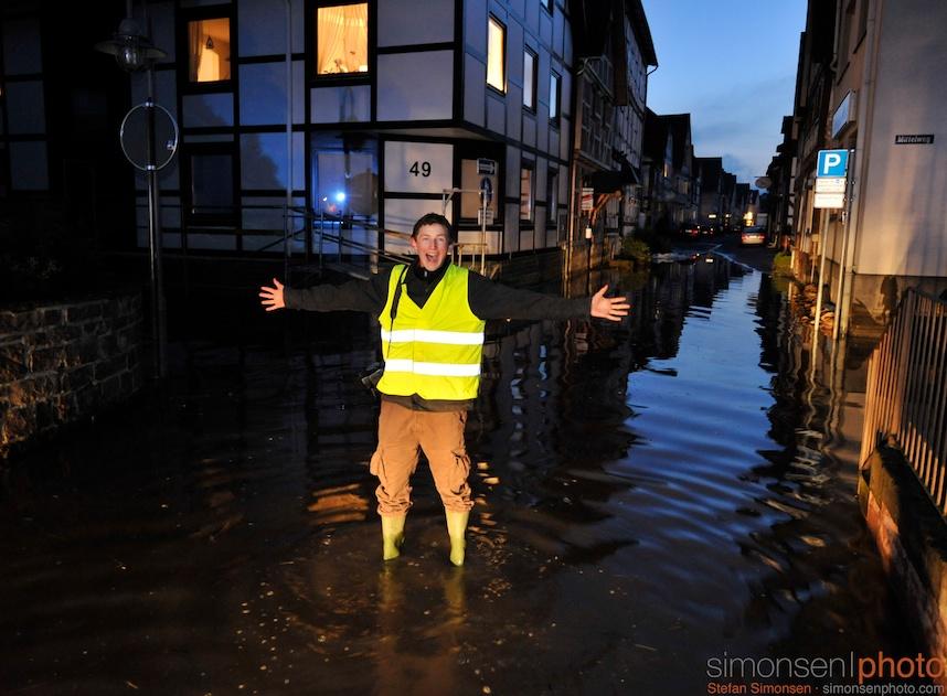 Sebastian im Weser-Hochwasser
