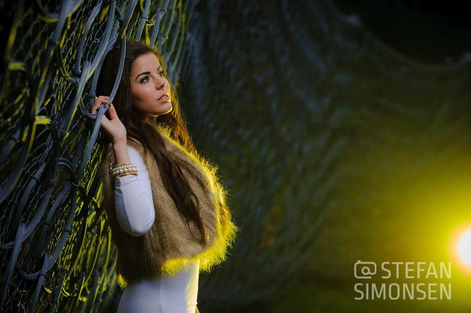 Das österreichische Model Magdalena Santer posiert im Oktober 2012 bei einem Foto-Workshop in Längenfeld/Österreich (Ötztal)