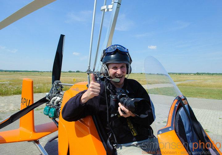 Fotojournalist Stefan Simonsen im Gyrocopter
