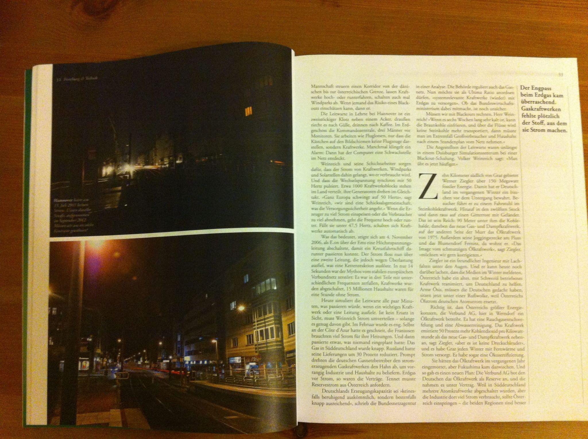 Fotoveröffentlichung von Stefan Simonsen im Zeit-Magazin zum Stromausfall in Hannover im Sommer 2011