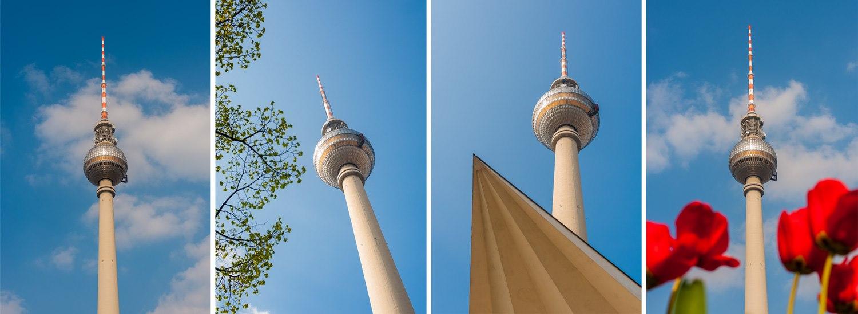 Verschiedene Ansichten des Berliner Fernsehturms